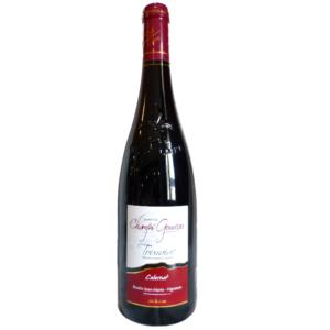 """6 bouteilles de vin de Touraine Rouge """"Cabernet"""" 2017"""